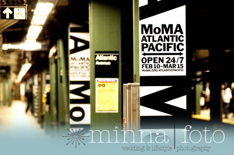 MoMA ad plastered on platform